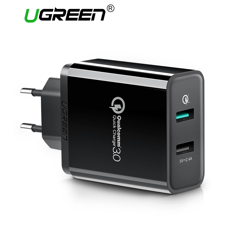 Ugreen Mobile Phone Charger 30W USB Charger for iPhone Quick Charge 3.0 Fast Charger USB Travel Adapter for Huawei Samsung LG
