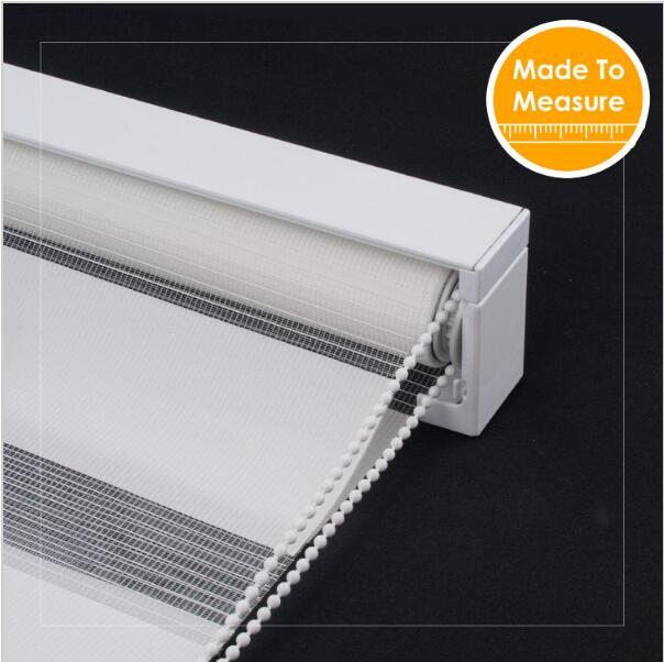 Special Contemp Square Mechinism Zebra Roller blinds Bead Rope Upper open White hotel Roller shades Curtains