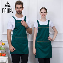 5 Color Unisex Fixed Shoulder Strap Aprons Chef Kitchen Work Restaurant Hotel Cafe Bakery BBQ Home Cooking Uniforms Long Aprons(China)