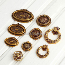 High Quality 20PCS European Antique Kitchen Door Furniture Handles Hardware Cupboard Wardrobe Drawer Cabinet Pulls Knobs&Handles
