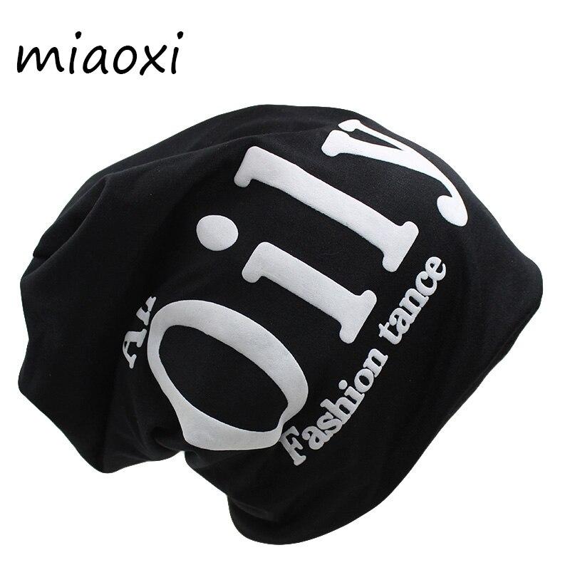 Новая модная женская осенне-зимняя теплая шапка miaoxi, женские шапки, облегающие шапки, однотонные мужские шапки из полиэстера с надписью, рас...