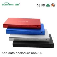 2.5 «HDD SATA USB 3.0 жесткий диск Кэдди Интерфейс SATA HDD SSD жесткий диск случае 6 Гбит Металл hdd случае с USB 3.0 кабель для 1 ТБ