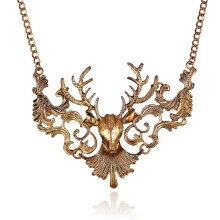 Best Deal Fashion Vintage Antique Elk Deer Pendant Maix Necklaces Collar Women Statement Jewelry Collier Femme Christmas Gift