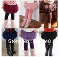 Retail 2017 New Spring Free shipping 1pc Girls' Leggings Children's skirt Girls Skirt-pants lace skirt Girl's pants