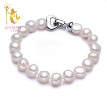 NYMPH pearl jewelry bracelets baroque pearl bracelets fine jewlery white freshwater pearl gift for women