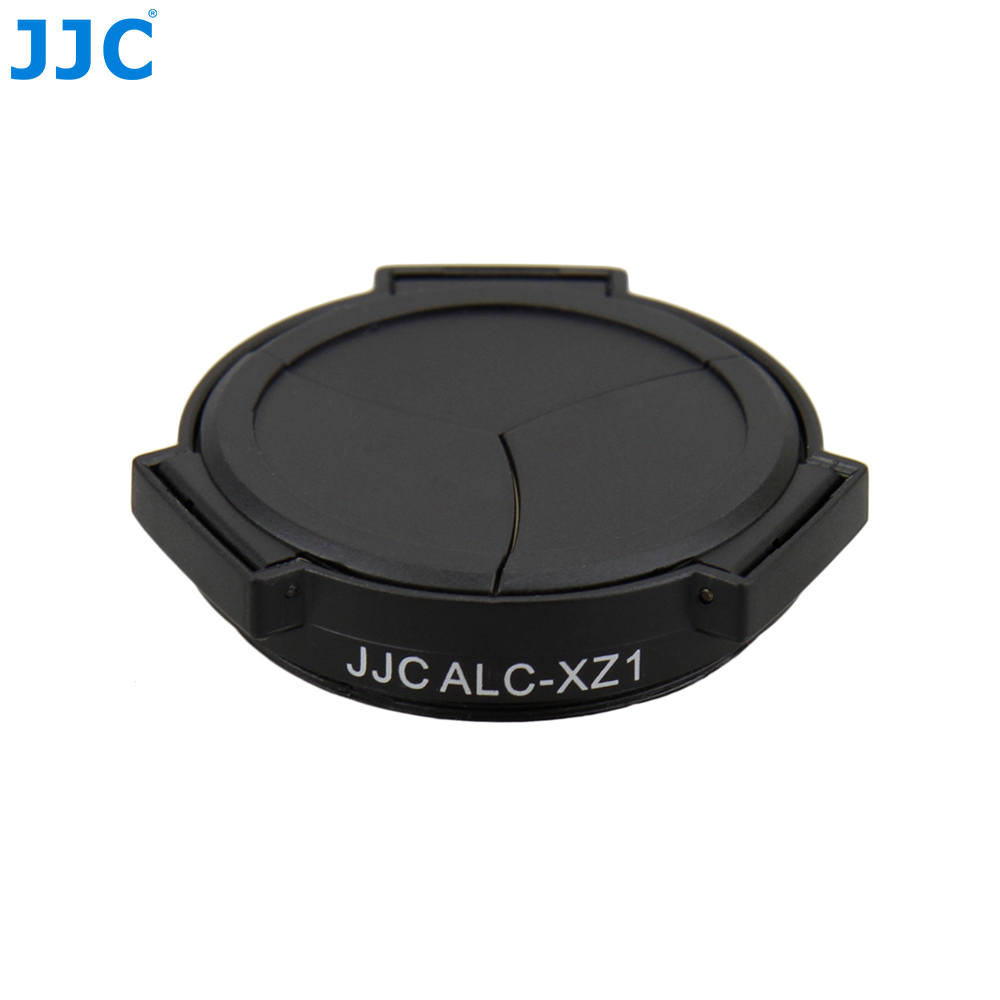 JJC Kamera Schwarz Selbst-Halte Öffnen Schließen Protector Auto Objektiv Kappe für OLYMPUS XZ-1/XZ-2