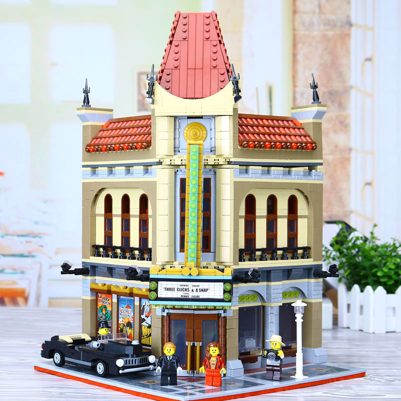 LEPIN 15006 2354pcs City Street Palace Cinema Model Building Blocks Set Bricks Toys Compatible Legoing 10232 Toys For Children city street series 15006 2354pcs palace cinema building blocks creator compatible legoing 10232 bricks toys gifts for children