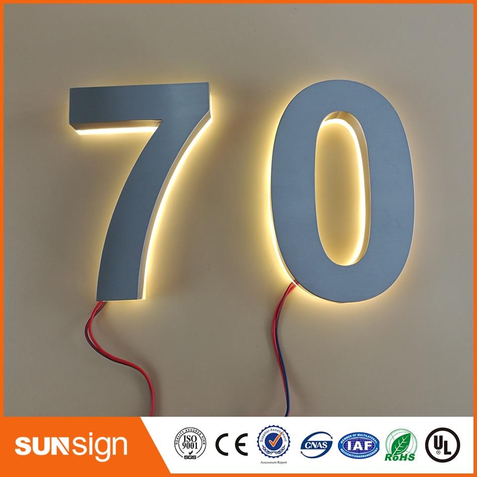 ③Decoración casera de encargo números de acero inoxidable caliente ...