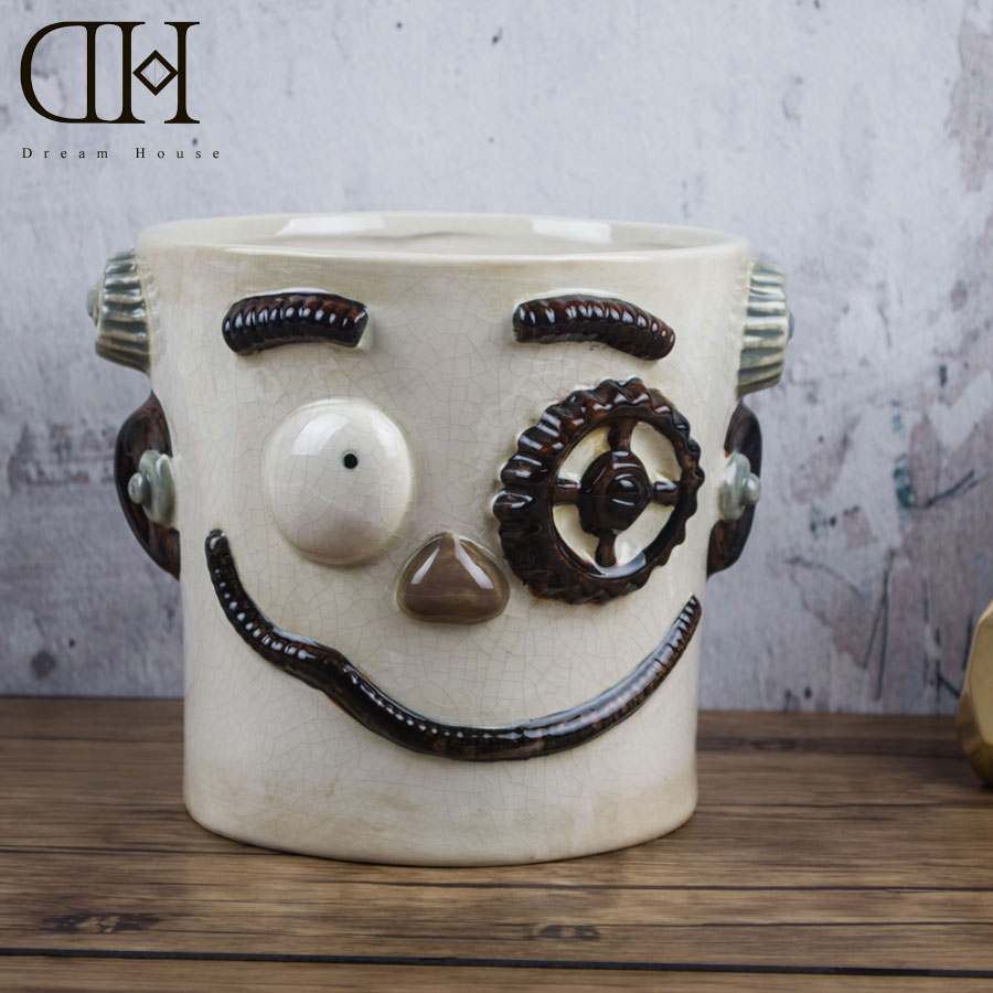 dh halloween ceramic freak bucket party decor porcelain monster figurine event decor spooky decor pumpkin - Ceramic Halloween Decorations