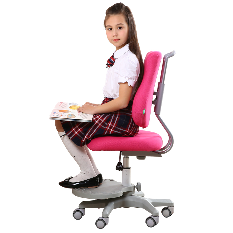 Children's Study Chair Safety Lifted with Footrest Student Chair Multifunction Healthy Household Child Corrective Sitting Chair off shoulder polka dot top with splited dress