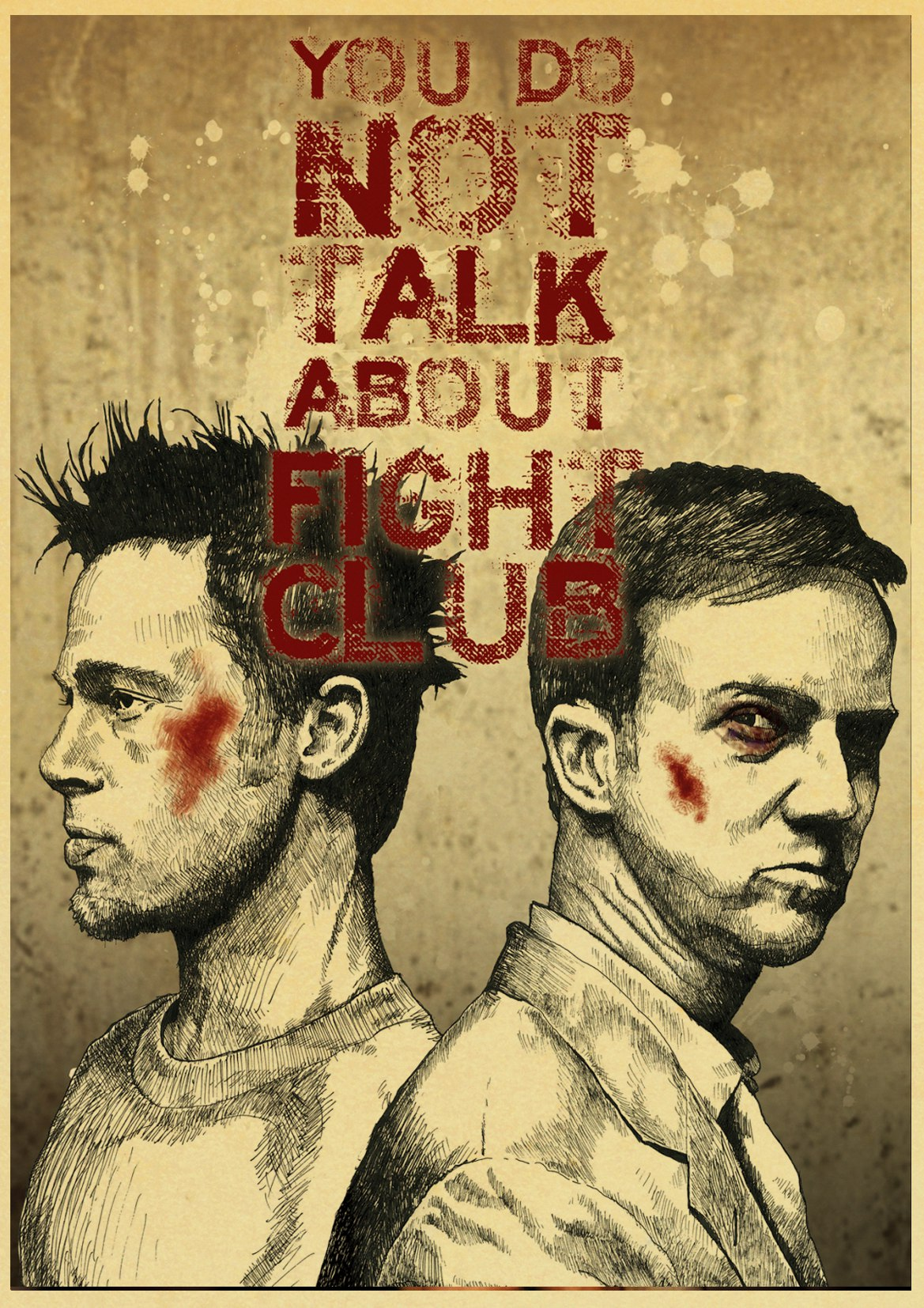 Fight Club 2   Poster Greatest Movies Vintage /& Classic Cinema