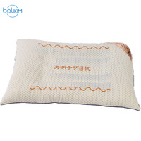BOLIKIM 2 Pieces Household Embroidery Neck Care Health Care Physiotherapy Stereotype Pillow MITSUBISHI Flower Cassia Seed Pillow