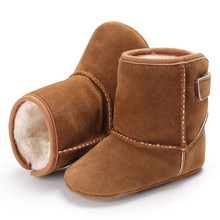 Toddler First Walkers Autumn Winter Super Warm Boots Classic Solid Baby Boys Girls Shoes Multi-Colors