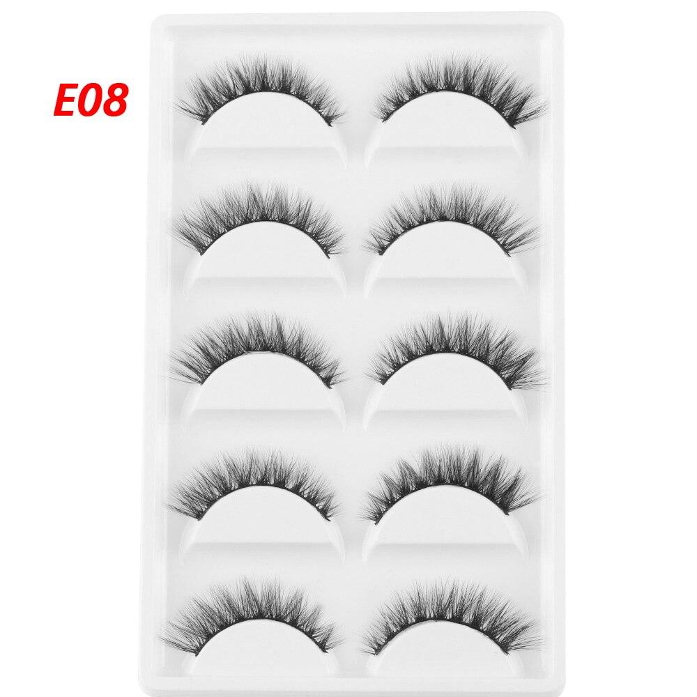 f6dea167181 5 Pairs 3D Mink Hair False Eyelashes Super Natural Long Cross Fake Eyelash  Charming Handmade Eye Lashes Makeup Extension Tools-in False Eyelashes from  ...