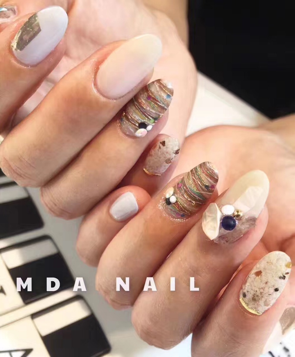 1bottle 2017 new Japan Korea Nail Art Decoration Colorful Line Nail Sticker DIY Fashion Nail Tools for Manicure-in Rhinestones & Decorations from ...
