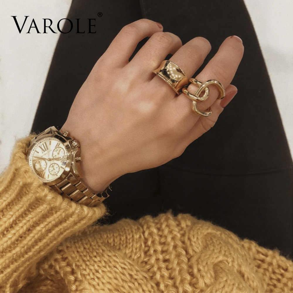 VAROLE podwójna linia krzyż uzwojenia pierścienie dla kobiet pierścienie nieskończoności prezenty unikalna konstrukcja biżuteria Anel Feminino
