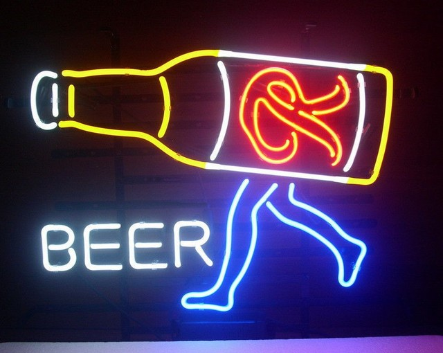 Custom Rainier Beer Glass Neon Light Sign Beer Bar