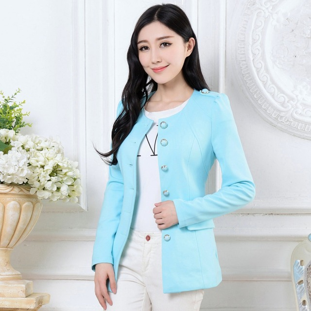 eae0a96400 Fashion Women Summer Blazer Jackets 2015 Car-Styling Casual Blazer Feminino  Slim Temperament Female Blazers Work Poncho