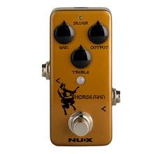 Nux cavaleiro overdrive pedal para efeito de guitarra elétrica verdadeiro buffer bypass efeitos de distorção natural instrumentos musicais pedais
