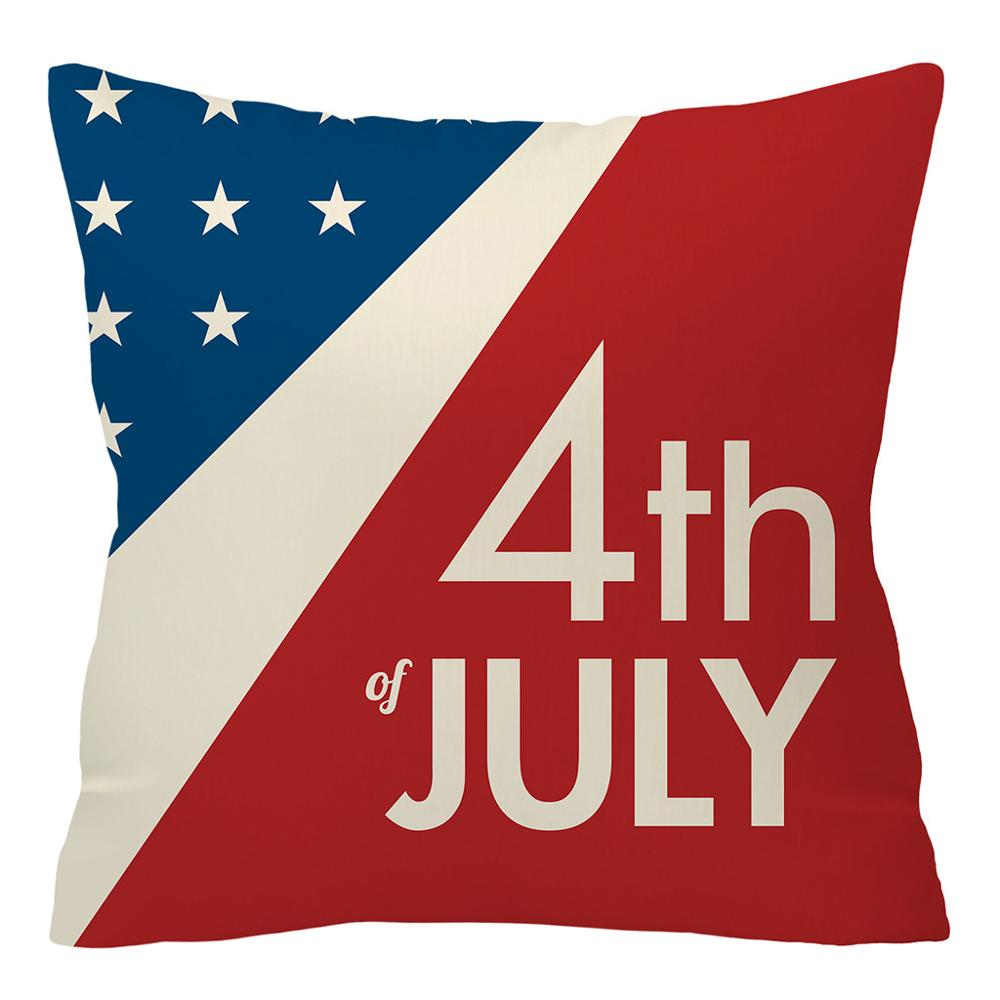 Happy independence day <font><b>July</b></font> <font><b>4</b></font>,1776 Polyester 45cm x 45cm square pillow <font><b>decorative</b></font> cushions for sofa vr46 pillow cover pillowcase image