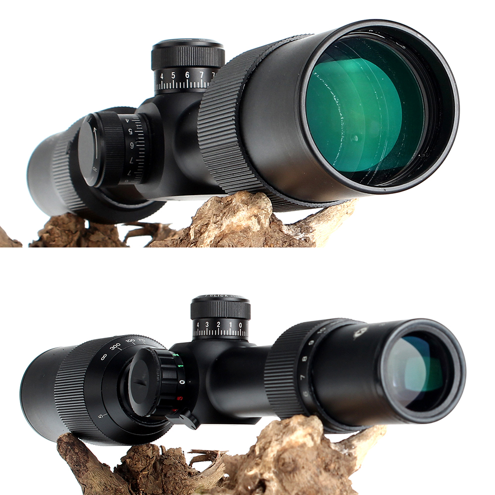 KANDAR 3.5-14X44 AOQ First Focal Plane Hunting Riflescopes Red Green Illuminated P4 Glass Etched Reticle Turrets Lock Scope (2)