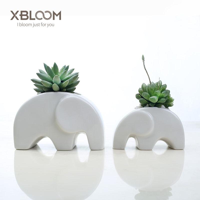 Creative Cartoon Elephant Flowerpot Vase Elephant Simple Statue Decor Succulent Potted Potted Modern Decor Birthday Wedding Gift