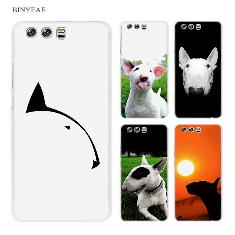 BINYEAE bullterrier bull terrier Hard Transparent Case Cover Coque for Huawei P8 P9 P10 Lite 2017 Plus P7