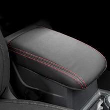 Искусственная кожа подлокотник крышку коробки центральной консоли Подлокотник Сиденья Крышку Коробки подлокотник подушка аксессуары для Volkswagen для VW Golf 7 MK7