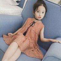 Girls Floral Dress Baby Clothes Children's Summer Thin Sleeveless Vest Dress Children's Summer Wear Dress