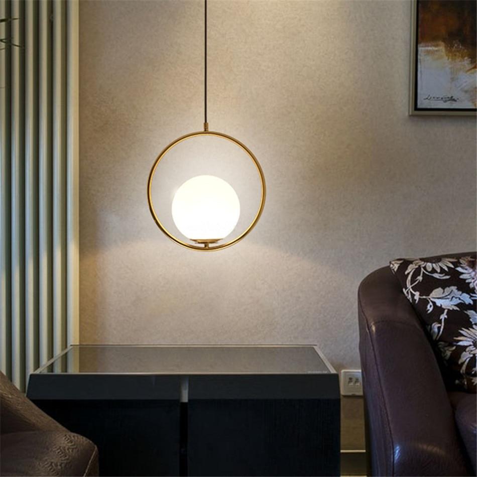 Nordic Loft Light Vintage Art Deco Master Bedroom Lamp Glass Bulb Pendant Light Tiffany Style Lamp Shades Modern Light Reading in Pendant Lights from Lights Lighting