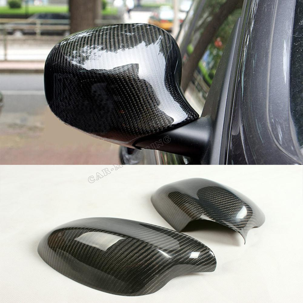 ФОТО 3 Series E90 Carbon Fiber Rear View Side Mirror Covers Car-Styling For BMW E90 325 328 E90 2009-2012