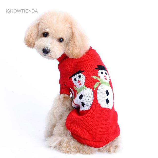 Kersttrui Mopshond.Us 2 53 17 Off Aliexpress Com Koop Ishowtienda Nieuwe Hond Kleding Hond Kerst Trui Sneeuwpop Print Pet Rode Revers Trui Hoge Kwaliteit In Vovotrade