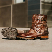 Spring Autumn Leather Sneakers Mens Luxury Shoes Men Designer Stone color Shoe 2019 Men Fashion Zipper Flats Casual Knight boots