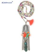 Цепочка с подвеской в стиле бохо креативное ожерелье ручной