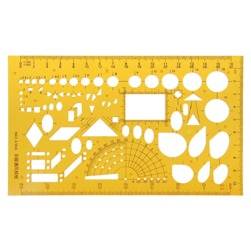 Plastic Geometric Template Ruler Universal Square Template Rulers Stencil Drawing Measuring Tool Students Office School Supplies