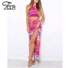Nice Summer Cotton Women Tops Skirts Halter Strap Shirts Maxi Skirts Comfy Beach Vacation Skirts Women Long Skirt BM-C2020