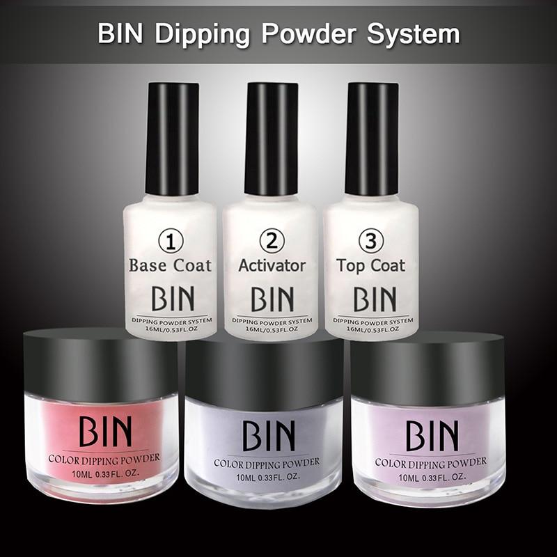 6PCS Nail Art Powder Nail Powder Kit Set Dipping Nail Color Top Professional