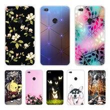 "Huawei P9 Lite 2017 กรณี 5.2 ""P8 Lite 2017 ซิลิโคน Huawei Honor 8 Lite กรณีดอกไม้รูปแบบ Funda"