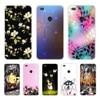"Huawei P9 Lite 2017 чехол 5,2 ""P8 Lite 2017 силиконовый чехол для телефона huawei Honor 8 Lite Чехлы Цветы Чехлы с узором"