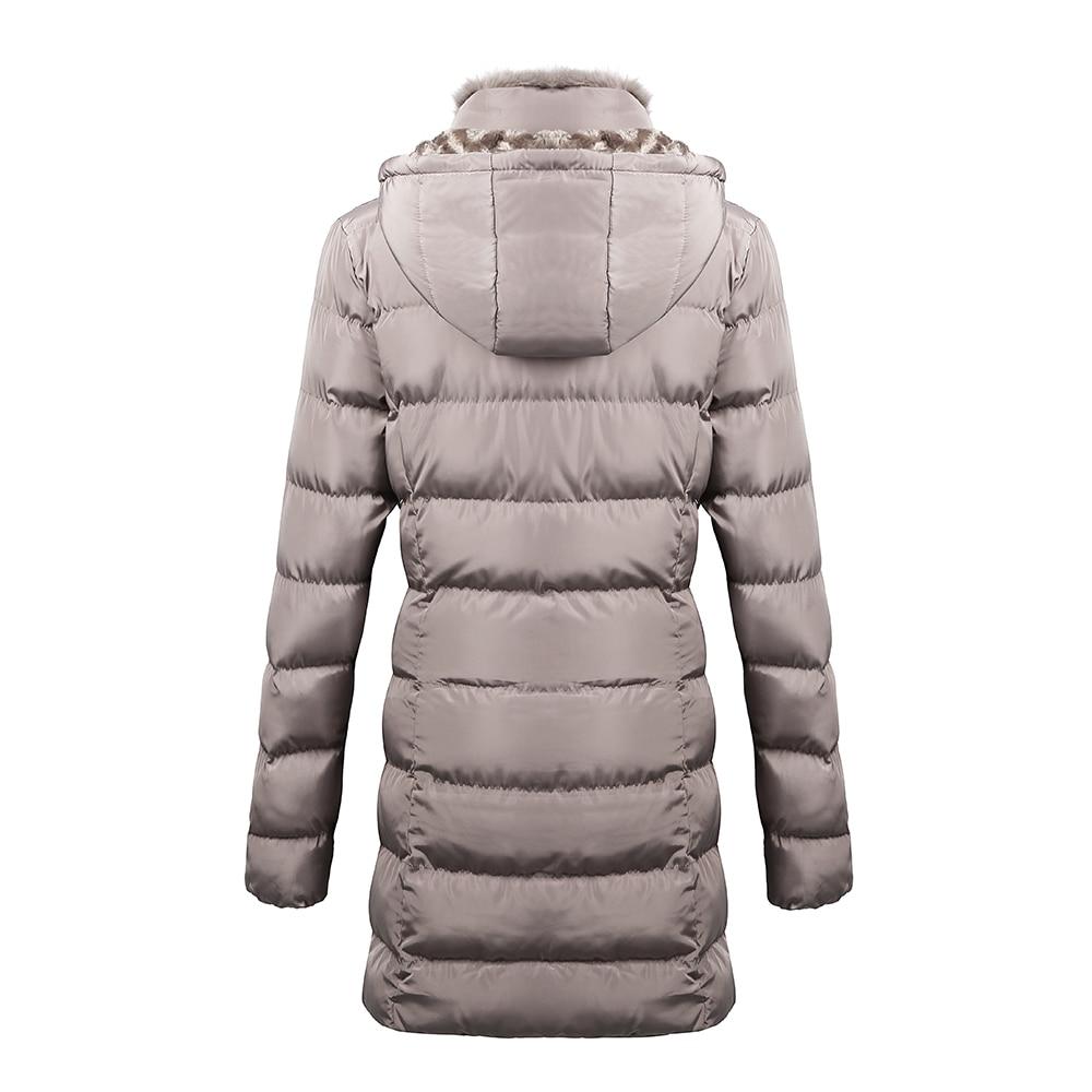 Хаки женские парки новая зимняя куртка женская меховая с капюшоном хлопковая Стеганая пуховая манто Femme теплая Женская куртка Wc48