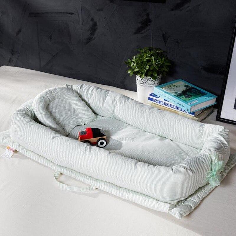 Плоская голова ребенка подушка хлопок складной Sleeper Портативный детская кровать мягкие новорожденных детские кроватки Спящая постельные п...