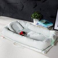Flat Head Baby Pillow Cotton Foldable Sleeper Portable Infant Bed Soft Newborn Baby Crib Sleeping Bedding