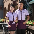Hotel Uniform Summer Fast Restaurant Waiter Clothing  Stuff Uniform Summer Hotel Waiter