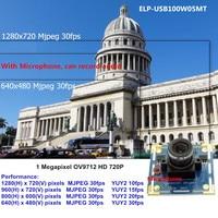 AHD 720P OV9712 CMOS Sensor 1280x720 Mjpeg 30fps USB 2 0 Mini Camcorder With Microphone Usb