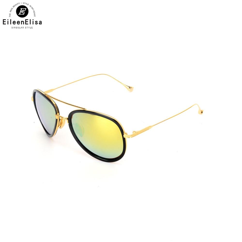 EE Metal Titanium Frame Pilot Sunglasses Women Brand Designer Vintage Sun Glasses