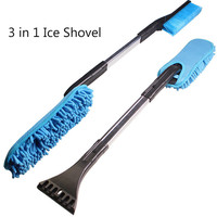 Wholesale Droshipping Car Styling 3 In 1 Car Vehicle Snow Ice Scraper SnoBroom Snowbrush Shovel Removal