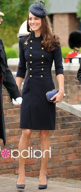 top quality cote, princess Kate Double-breasted Military uniform wool coats FR068