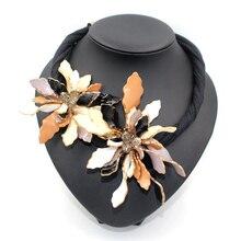 Collares ошейником Цветок готический ожерелье акриловые неправильной формы ювелирные изделия заявление ожерелье 2016 ZA ожерелье bijoux