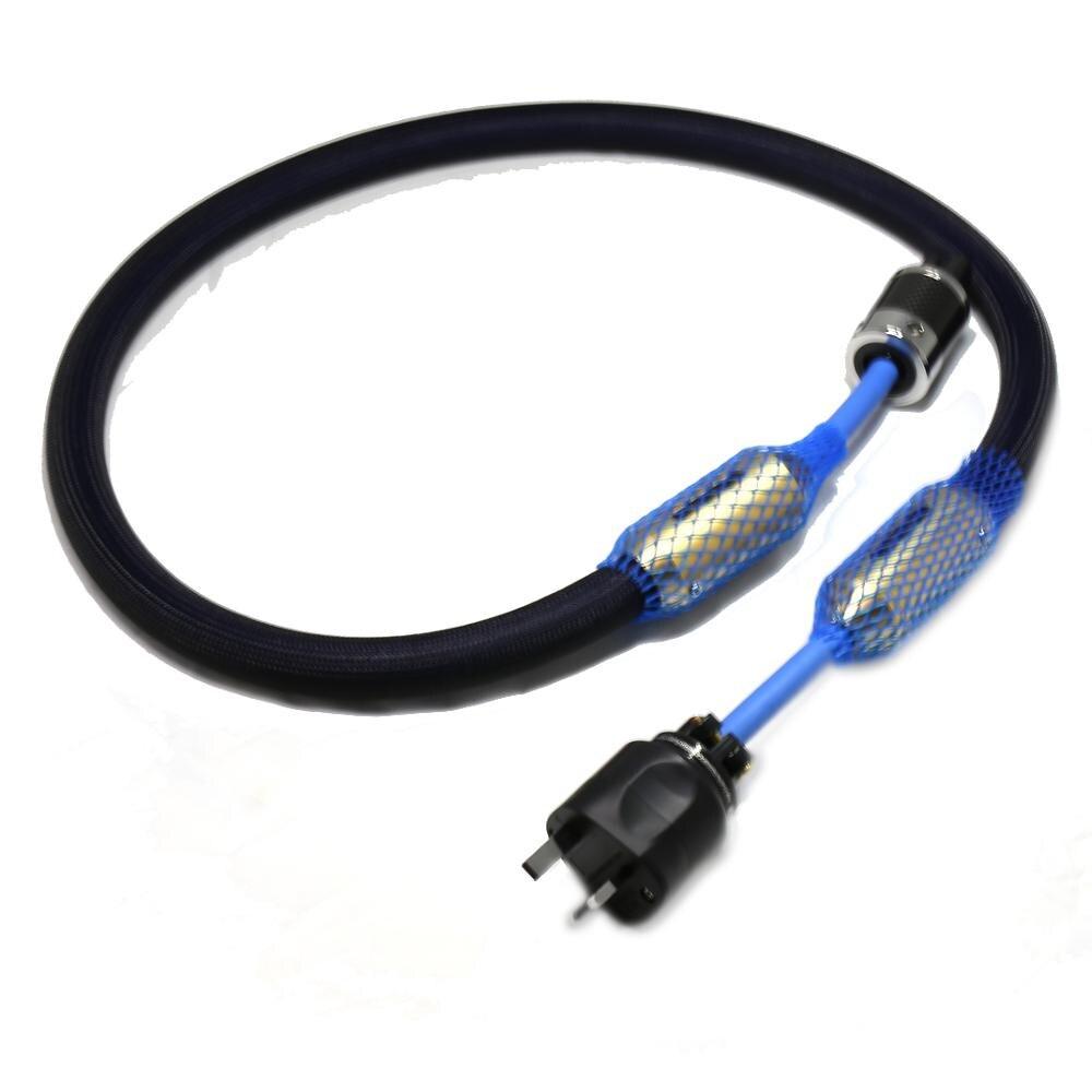 Livraison gratuite câble de cordon d'alimentation audio Hifi avec connecteur de prise d'alimentation plaqué Rhodium UK