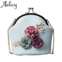 Aelicy Women Fashion Handbag Shoulder Stereo Flowers Bag Small Tote Ladies Purse Luxury Handbags Women Bags